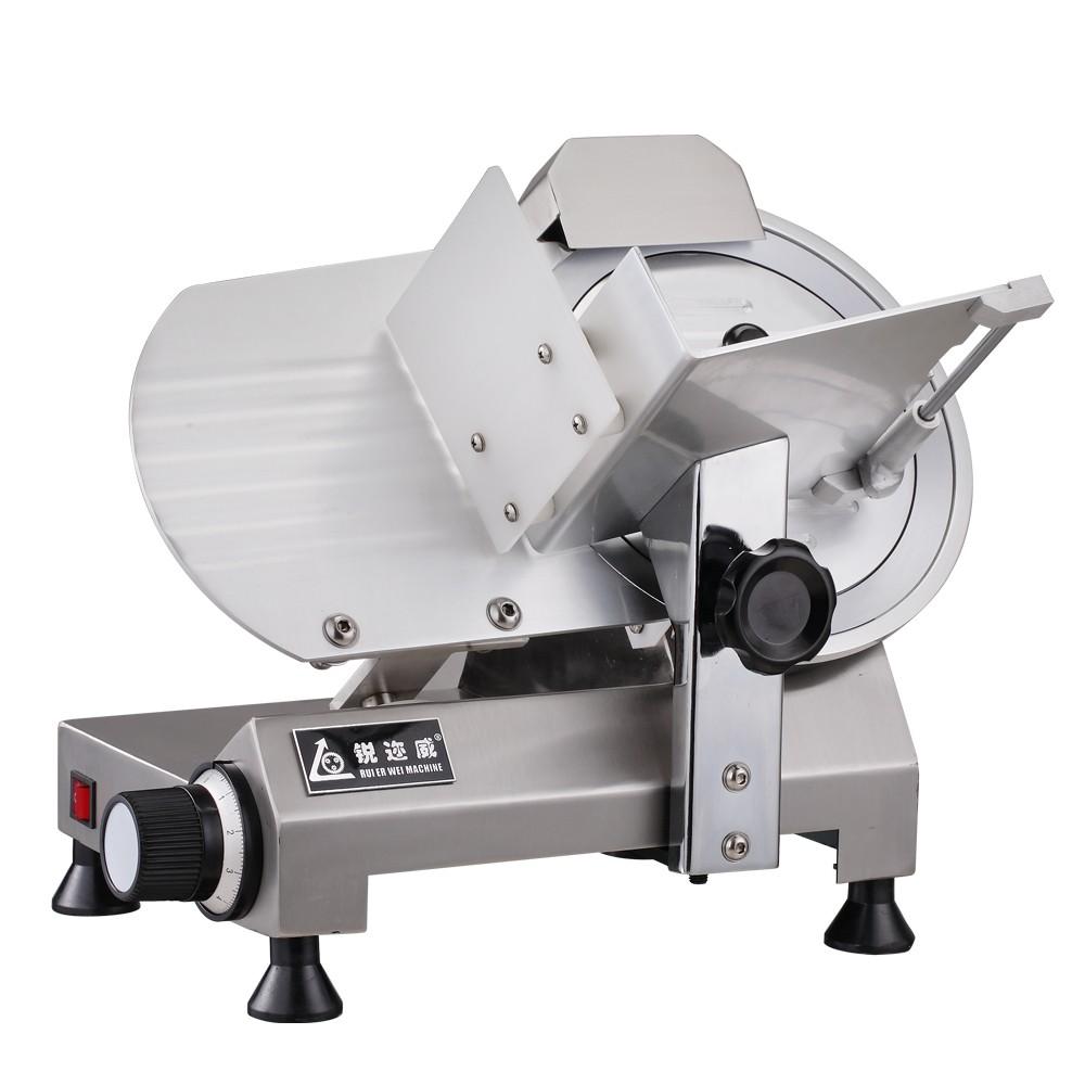 250C10寸半自动切片机切冻肉机 刨肉机羊肉牛肉切片机